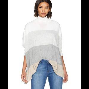 Calvin Klein Colorblock Dolman Cape Knit Top S/M